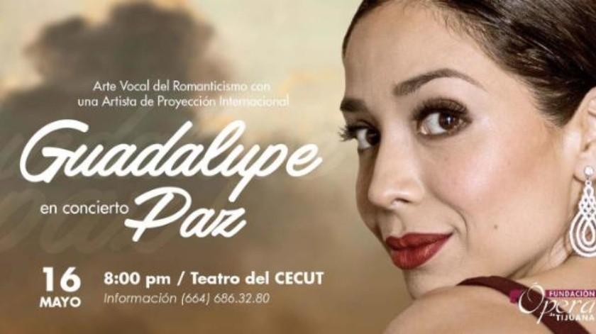 Invitan a concierto de Guadalupe Paz en el Cecut