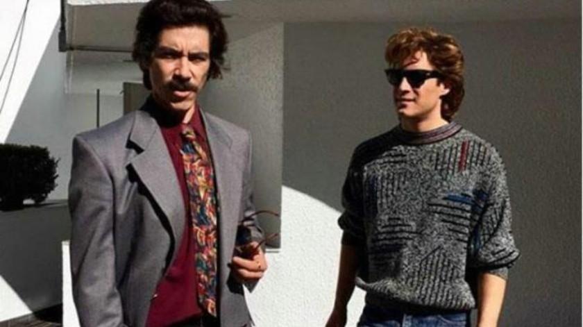 Se reencuentran Diego Boneta y Óscar Jaenada a un año de 'Luis Miguel, la serie'