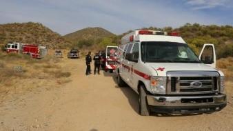 Rescatan a mujer lesionada en el Cerro El Bachoco
