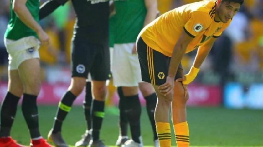 ¡Sin emociones! Raúl Jiménez y Wolves dan deslucida actuación contra Brighton