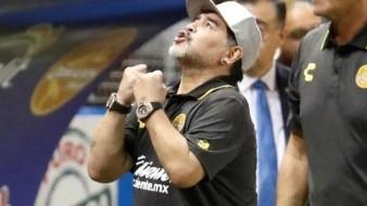 Diego Maradona satisfecho, pero no confiado para la vuelta contra Cimarrones