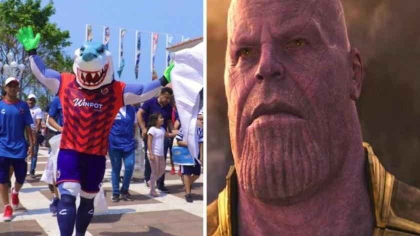 FOTO: ¡Tremendo spoiler! Mascota del Veracruz arruina la vida a fans de Avengers
