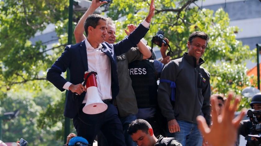 Gobiernos de América Latina ofrecieron su apoyo al líder opositor Juan Guaidó.(Copyright 2019 The Associated Press. All rights reserved, AP)