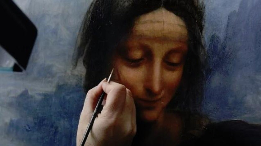 """TV UNAM se une a las actividades conmemorativas por el 500 aniversario luctuoso de Leonardo da Vinci con la transmisión del documental """"Leonardo da Vinci, la restauración del siglo"""" en el cual se explora la restauración a la que se sometió la obra """"La Virgen, en Niño Jesús y Santa Ana"""".(Tomada de la red)"""