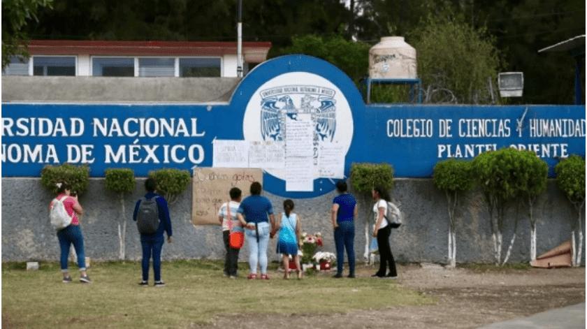 Peritos de la Procuraduría General de Justicia de la Ciudad de México (PGJ) consideraron que Aideé, alumna del CCH Oriente, falleció a causa de una bala perdida(El Universal)