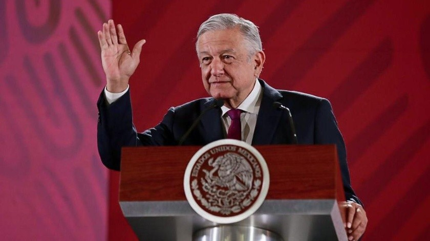 Andrés Manuel López Obrador en su conferencia de prensa matutina de este jueves.