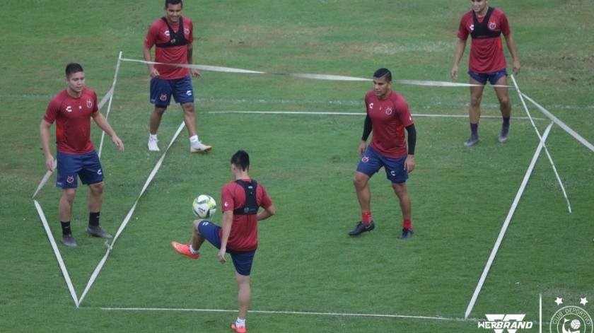 Equipo del Veracruz entrenando.(Twitter)