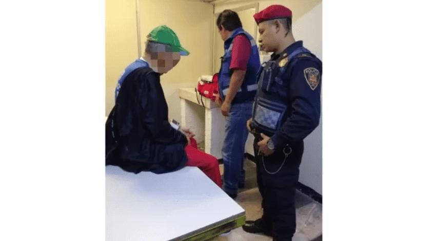 Hombre mayor intenta arrojarse a vías del metro; policías lo evitan(Especial.)