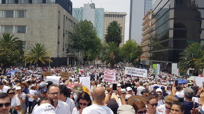 Marchan contra AMLO(Fernando Belaunzarán)