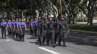 Los menores participaron del desfile del 5 de mayo.