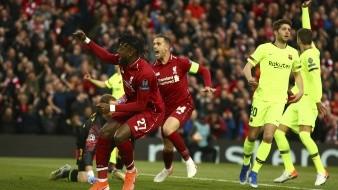 Sin Salah, ni Firmino, Liverpool blanqueó al Barcelona con Origi inspirado.
