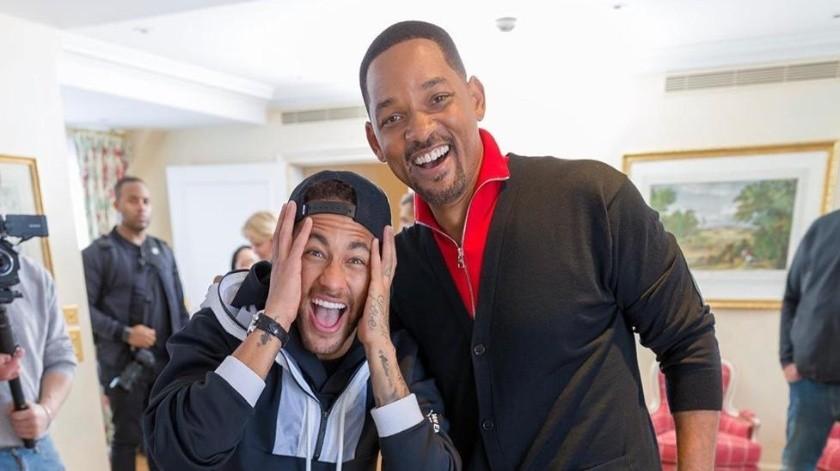Neymar y Will Smith.(Instagram)