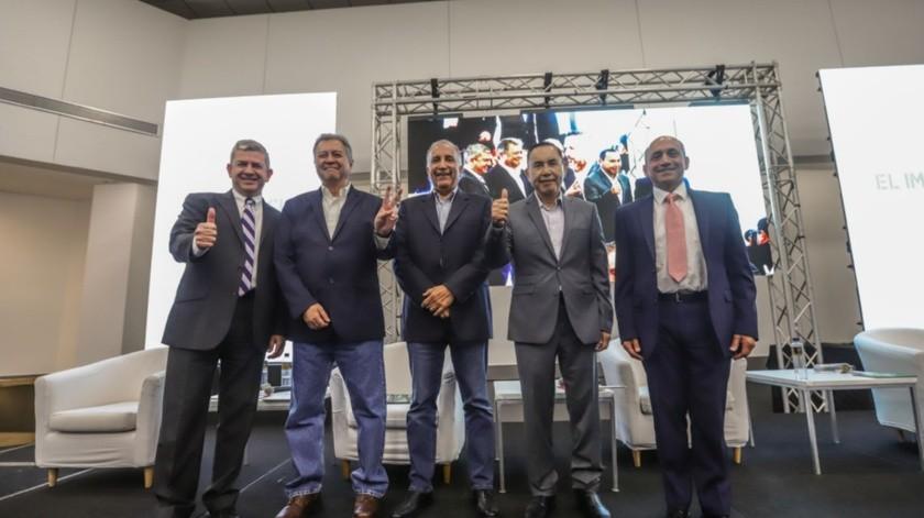 Los aspirantes a la Gubernatura de Baja California acudieron a la invitación que GRUPO HEALY realizó para el debate.(Sergio Ortiz)