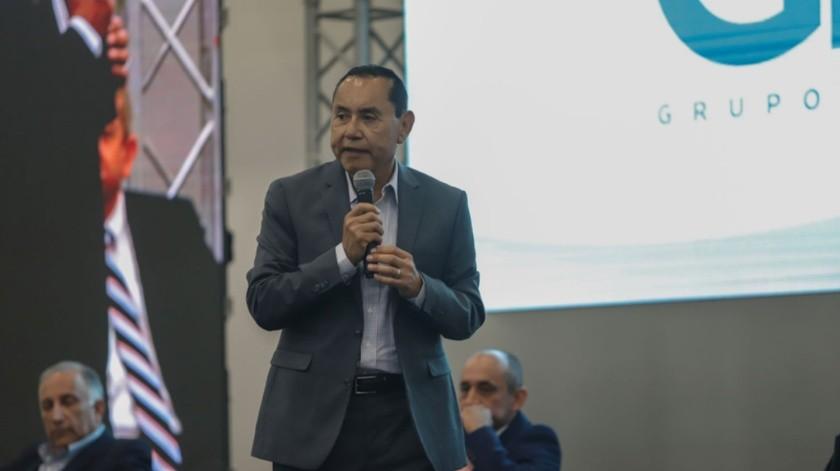 Participaron Enrique Acosta Fregoso, del PRI.(Sergio Ortiz)