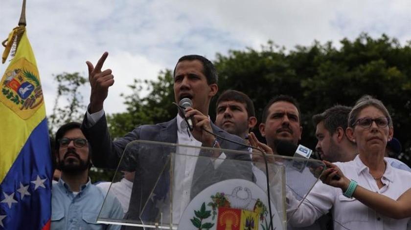 El jefe del Parlamento, Juan Guaidó, reconocido como presidente interino de Venezuela.(EFE)