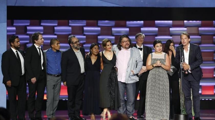 """La oscarizada """"Roma"""", del mexicano Alfonso Cuarón, se llevó este domingo el Premio Platino a mejor película iberoamericana.(EFE)"""
