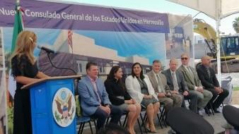 Este lunes se colocó la primera piedra del nuevo Consulado General de EU en Hermosillo.