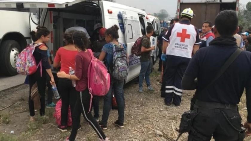 Rescatan a más de 100 migrantes deshidratados en Veracruz(Especial)