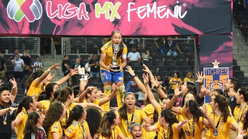 Tigres es el  equipo más ganador de la Liga MX Femenil.(Twitter/ @TigresFemenil)