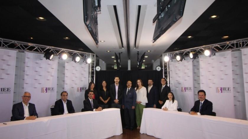 Los candidatos participaron en el debate celebrado en las instalaciones del Cetys Universidad de Mexicali.(Cortesía)