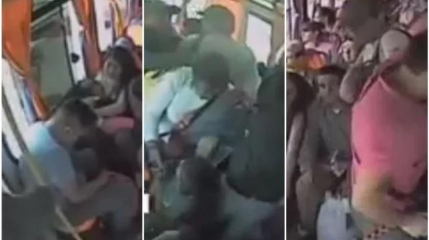 VIDEO: Ladrón golpea a mujer con bebé en asalto en CDMX(Captura de video)