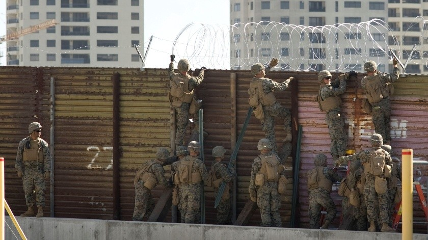 Operativo Línea Segura que se implementa en la frontera para responder a la caravana migrante.(EFE, EFE)