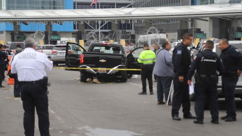 El estadounidense arrolló a tres vendedores ambulantes e impactó 17 vehículos particulares en la garita de San Ysidro.