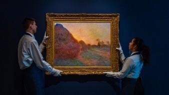 Imagen distribuida por la subastadora Sotheby's que muestra la obra de Claude Monet titulado