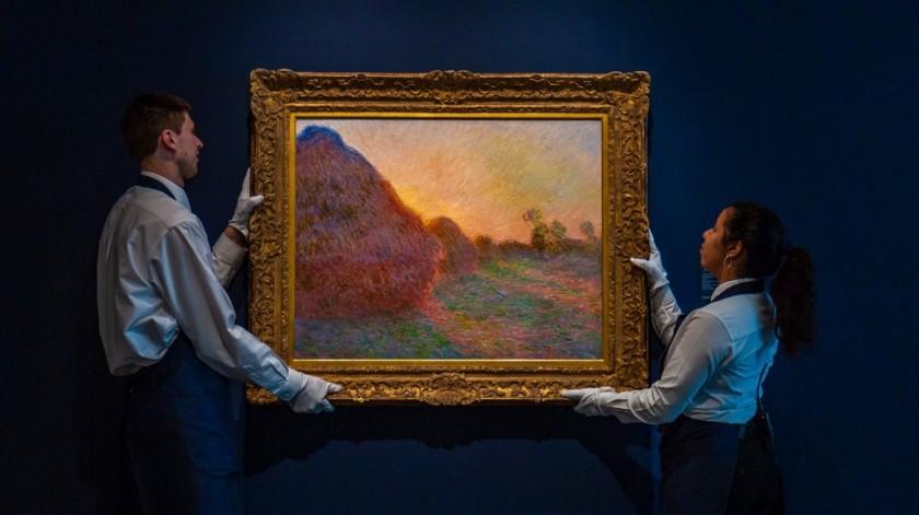"""Imagen distribuida por la subastadora Sotheby's que muestra la obra de Claude Monet titulado """"Meules"""".(AP)"""