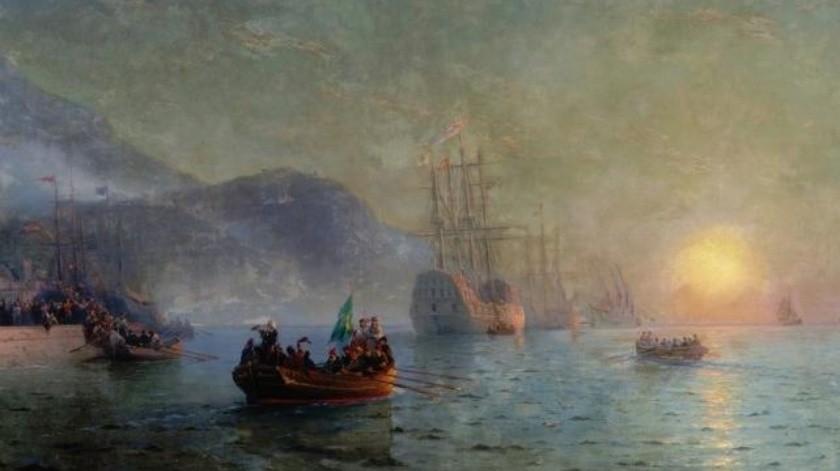 Una serie de obras de gran valor de Ivan Aivazovsky se perdieron cuando el barco de vapor General Kotzebue se hundió frente a la costa de Crimea en 1895, detalló The Mirror.