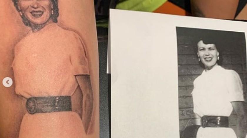 Demi Lovato decidió llevar en su piel la imagen de su bisabuela, con quien mantuvo una relación muy estrecha hasta su fallecimiento en 2016.(Cortesía Instagram)