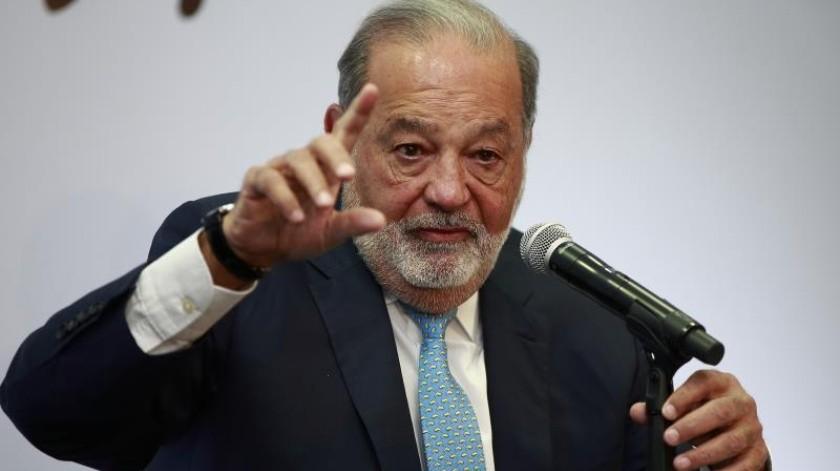"""El magnate mexicanoCarlosSlimdefendió este jueves que es """"urgente"""" eliminar la pobreza de América Latina.(EFE)"""