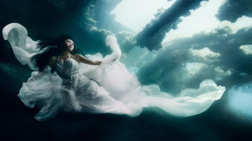 8 Fotografías de novias imposibles bajo el agua(Tomada de la Red)