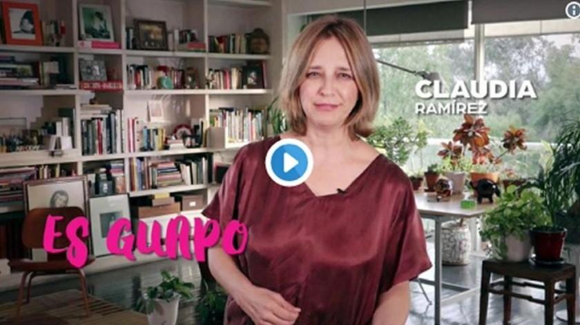 Claudia Ramírez fue críticada en  redes por su participación en spot.(Captura de video)