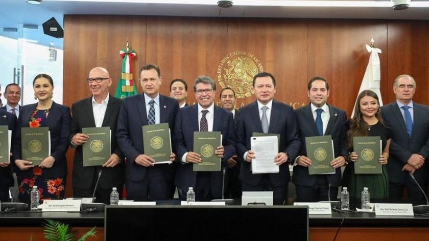 Los grupos parlamentarios del Senado de la República anunciaron su aval a los proyectos de legislación secundaria en materia de Guardia Nacional.(Twitter)