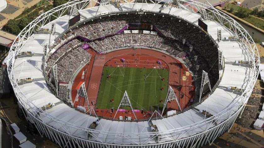 Estadio Olímpico de Londres, sede del encuentro en Inglaterra de Yanquis y Medias Rojas.(AP)
