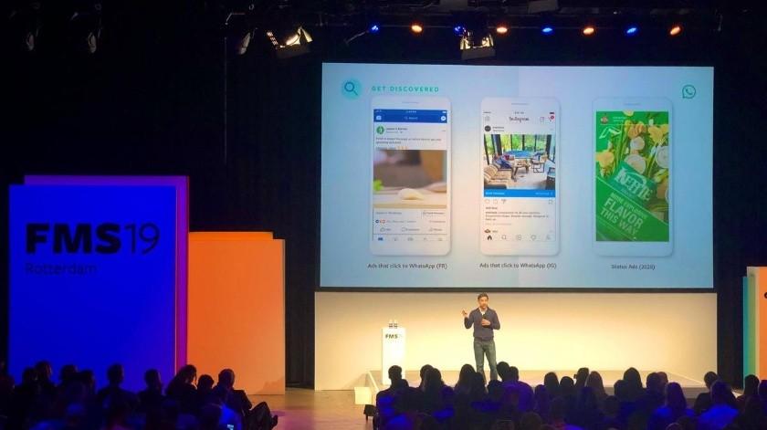 Facebook mostró los anuncios de WhatsApp que serán implementados en 2020.(Twitter)