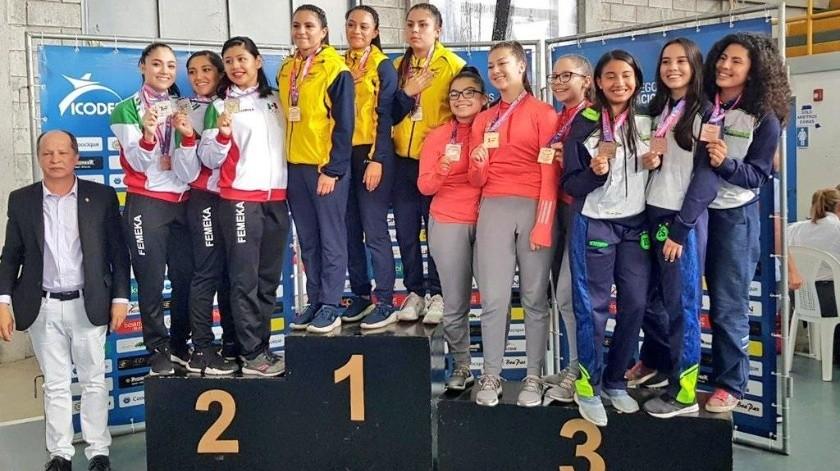 Los karatecas sonorenses se lucieron en el Campeonato Centroamericano y del Caribe.(Cortesía)