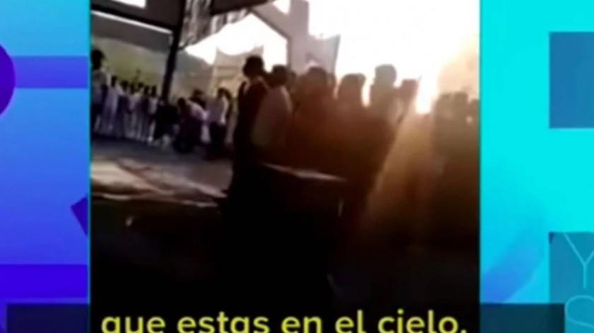 VIDEO: Mezcla juramento a la bandera con el Padre Nuestro(Captura de video)