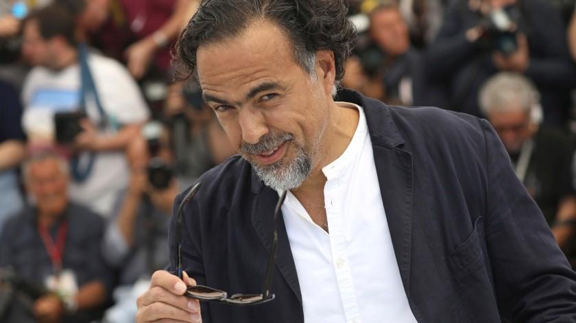 El presidente del jurado Alejandro González Iñárritu posa para la prensa el día inaugural del Festival de Cine de Cannes.(AP)