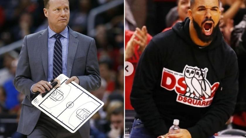 Entrenador de Bucks regaña a Drake por rol en Raptors(GH)