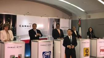 El presidente de Canacintra, Eugenio Lagarde, presentó a los cinco candidatos a la alcaldía.