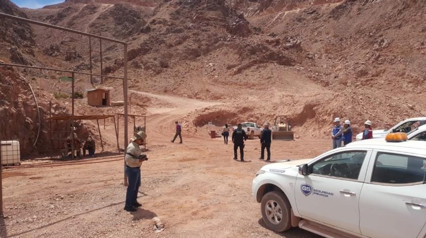 La mina de San Felipe registró el fallecimiento de uno de sus trabajadores.(Cortesía)
