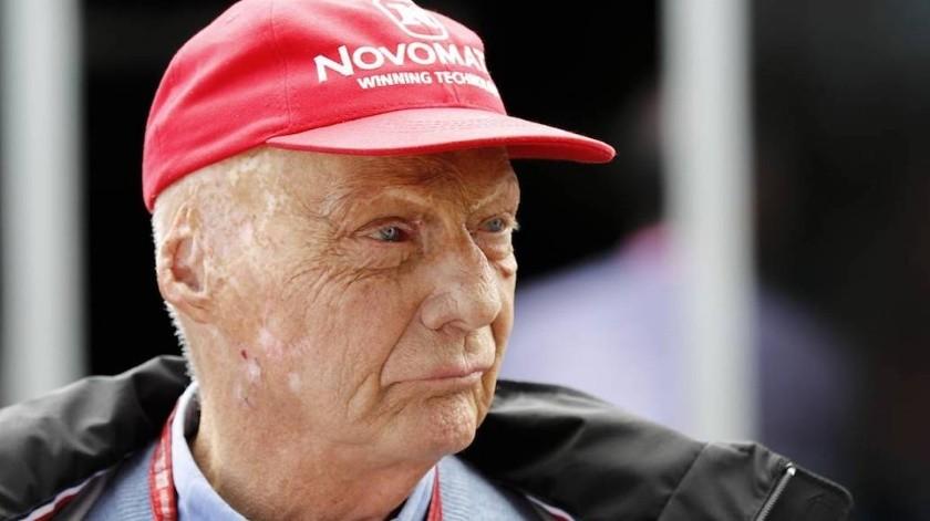 El piloto austriaco murió este lunes a los 70 años, un año después de haber sido intervenido por un trasplante de pulmón.(Twitter)