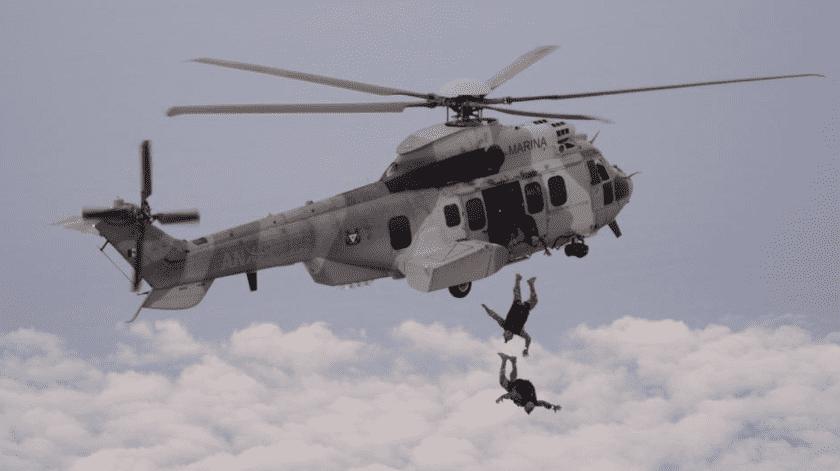 Marina busca tripulantes de helicóptero accidentado(@Semar_mx)