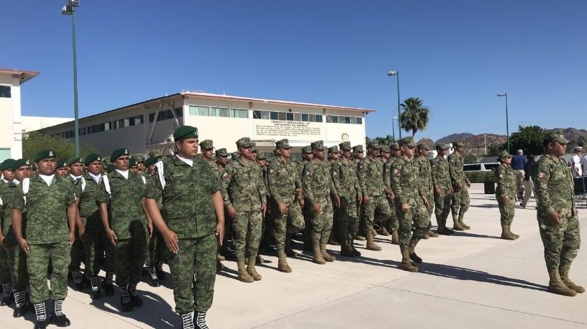 Los elementos de la Guardia Nacional que estarán en Ciudad Obregónpermanecerán en Las instalaciones de la Unidad de Seguridad y Servicios Integrales Sur.