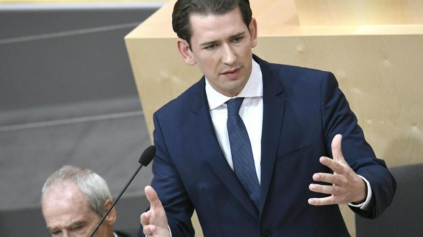 El canciller austriaco, Sebastian Kurz, fue destituido este lunes por una moción de censura aprobada por los principales partidos de la oposición.(AFP)
