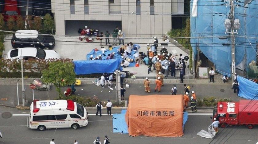 El ataque se registró durante la hora de salida en un colegio japonés.(AP)