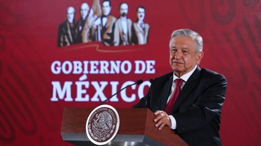 El presidente López Obrador viajaba con su esposa Beatriz Gutiérrez Müller.