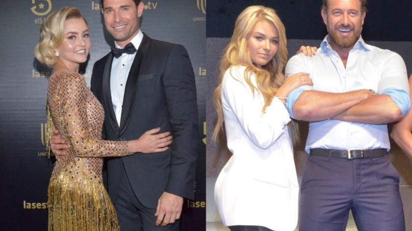 Actualmente Sebastián Rulli mantiene una relación con Angelique Boyer y Gabriel Soto con Irina Baeva.(Cortesía)